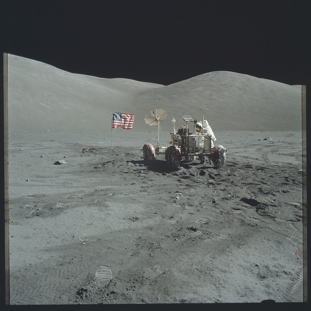 Apollo 17 Hasselblad image from film magazine 140/E - EVA-3