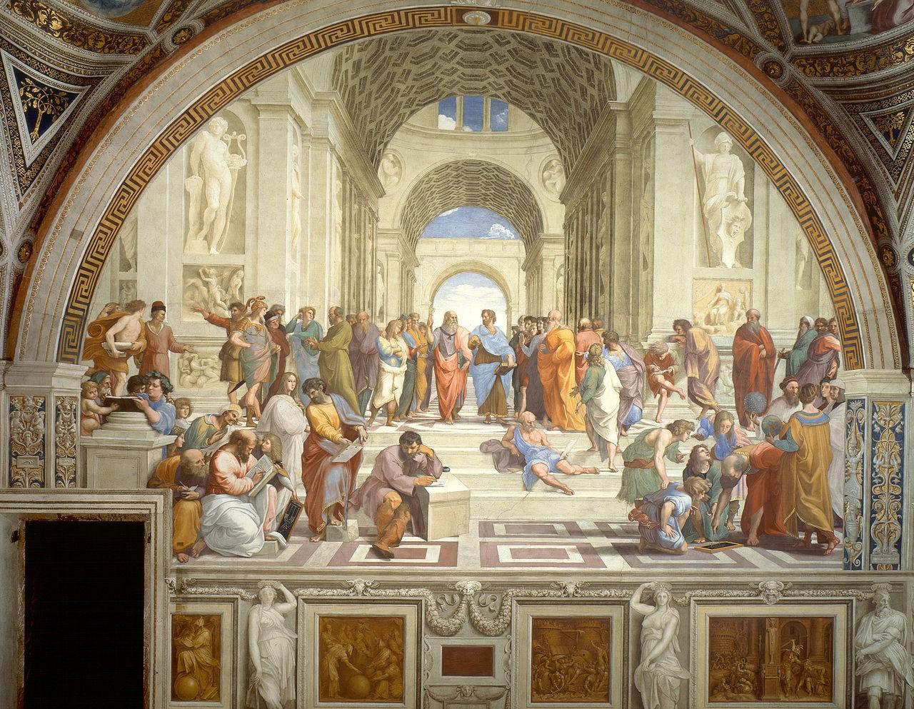 Рафаэль Санти, фреска «Афинская школа»